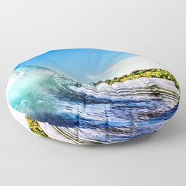 Tropical Wave Floor Pillow