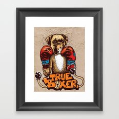 true boxer Framed Art Print