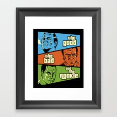 The Good, The Bad and the Rookie Framed Art Print