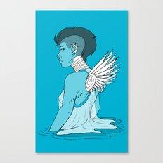 Angel Hawk Avenger Canvas Print