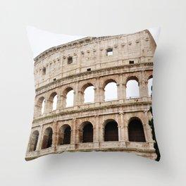 The Colosseum Roma Italia Throw Pillow