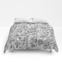 power tools black white Comforters
