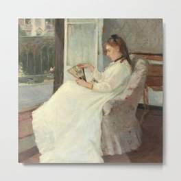 The Artist's Sister at a Window by Berthe Morisot Metal Print
