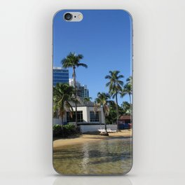 Beach at Caribe Hilton, San Juan, Puerto Rico iPhone Skin
