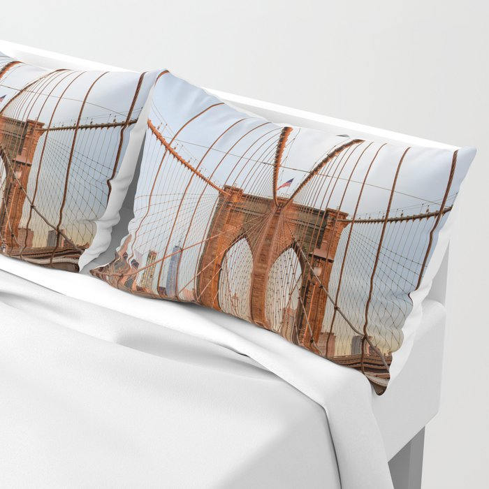 Brooklyn Bridge Sunrise Pillow Sham