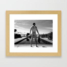Swim Naked Framed Art Print