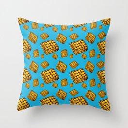 Waffle morning Throw Pillow
