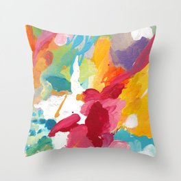 Blooming Dreams Throw Pillow