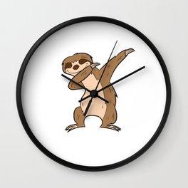 Funny Dabbing Sloth Cute Sloth Dab Kids Dabbing Sloth Wall Clock