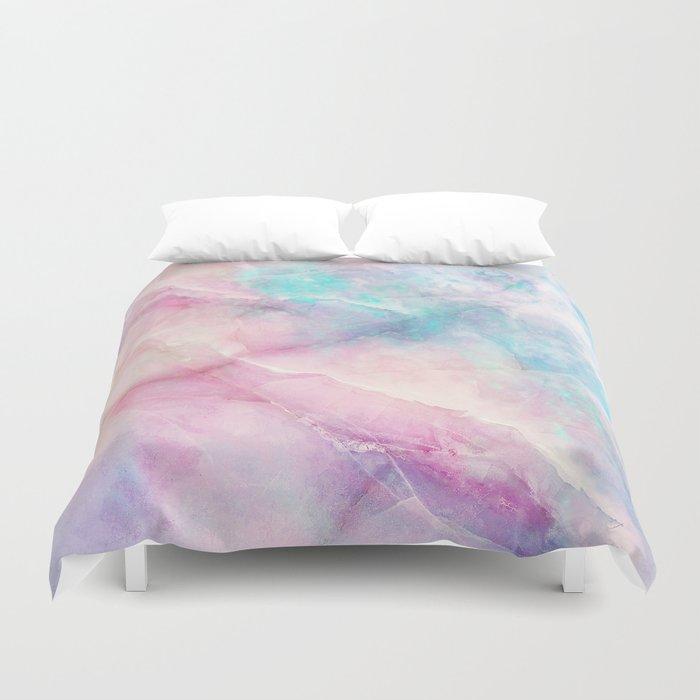 Iridescent marble Bettbezug