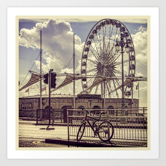 The Brighton Wheel Art Print