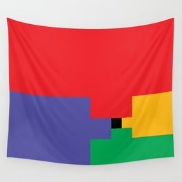 Puzzling Primary Wall Tapestry