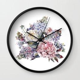 Watercolor Bouquet Wall Clock