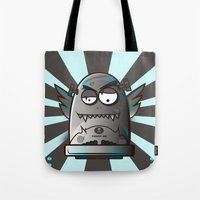 fault Tote Bags featuring Fault 45 03 (its not his fault) by Face Leakage