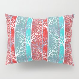 Red blue, abstract Pillow Sham