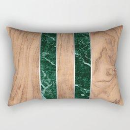 Wood Grain Stripes - Green Granite #901 Rectangular Pillow