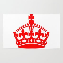 Stay Calm Crown Rug