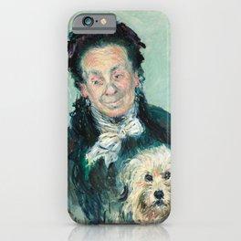 Claude Monet - La Mère Paul (Eugénie Graff) iPhone Case