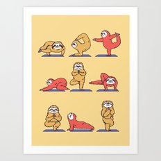 Sloth Yoga Art Print