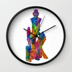 Block Tower Wall Clock