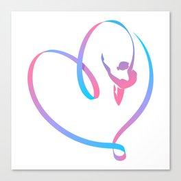 Rhythm of a Gymnast's Heart Canvas Print