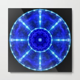 Cosmic Pool Mandala Metal Print