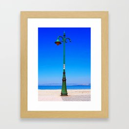 Peraia lamppost Framed Art Print