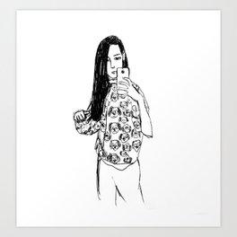 Dalmatian selfie Art Print
