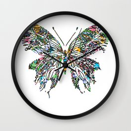 Butterfly Digital Drawing Wall Clock