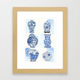 Chinese vases Framed Art Print