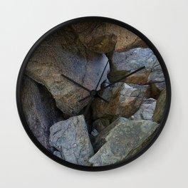 Natural Beach Rock Cave Texture Cornwall Wall Clock