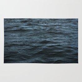 Dark Ocean Surface Rug