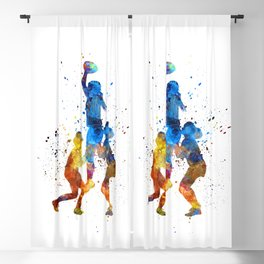 Man scuba diver 01 in watercolor Blackout Curtain