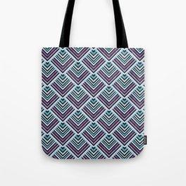 Purple and Blue Geo Tote Bag