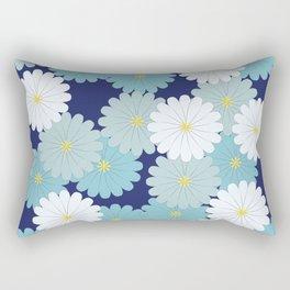 Blue oriental flowers Rectangular Pillow