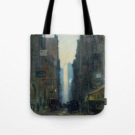 New York Street Scene - Ernest Lawson Tote Bag