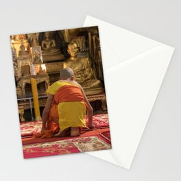 The Smallest Monk - Luang Pragbang, Laos Stationery Cards
