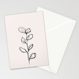 Plant one line drawing illustration - Nora I Stationery Cards