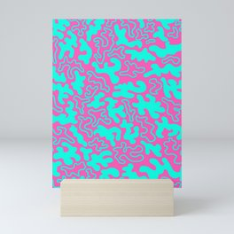 """Chic Germs - Pink & Teal"" Mini Art Print"