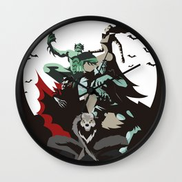 evil monsters group poster Wall Clock