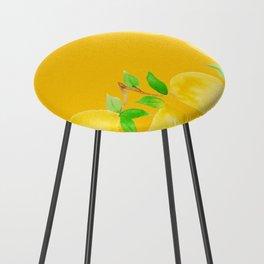 Lemons on Mustard Yellow Counter Stool