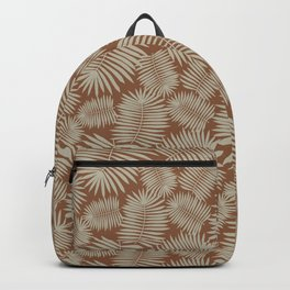 Palm Leaves Delight   brown & light brown   Backpack