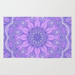 Purple Kaleidoscope Rug