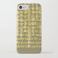 calligraphy iPhone & iPod Cases featuring Calligraphy Gothic by Cami Landia