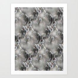 flowers -8- seamless pattern Art Print