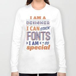 Font Stacker Long Sleeve T-shirt