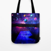 universe Tote Bags featuring Universe by haroulita