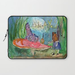 Alice and the Caterpillar Laptop Sleeve