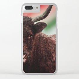 Yak in colors Clear iPhone Case
