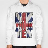 british Hoodies featuring Tea / British by tshirtsz